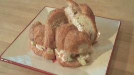 Waldorf Chicken Salad tea sandwiches