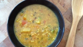 Quick Veg Lentils Curry- How to Prepare South Indian Style Lentils Curry