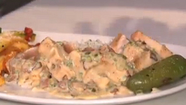 Albacore Tuna with Jalapeno Bacon Cream Sauce