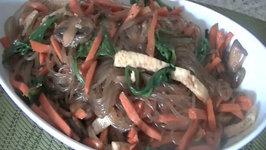 Japchae: Korean Stir Fry