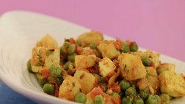 Paneer, Peas and Potato Taka Tak by Tarla Dalal
