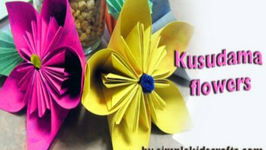 How to make an origami japanese kusudama flower video by how to make an origami japanese kus mightylinksfo