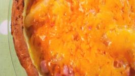 Ham And Apple Filled Puffed Pancake