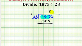 Example:  Dividing Whole Numbers with a Remainder