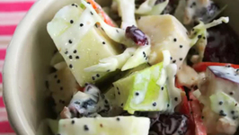 Fresh Apple and Cranberry Slaw
