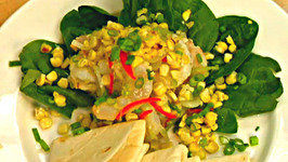Shrimp Ceviche With Corn And Spinach