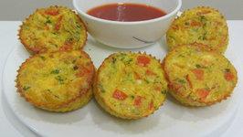 Baked Masala Cheesy Omelet Cupcakes