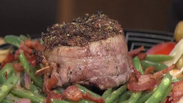 Steak with Italian Green Beans