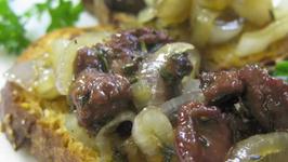 Chicken Liver Bruschetta