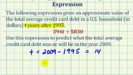Ex:  Algebraic Expression Application - Credit Card Balance
