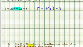 Ex: Evaluate an Expressing Using the Order of Operations