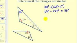 Similar Triangles Using Angle-Angle