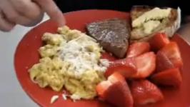 Seared Steak And Scrambled Eggs Breakfast