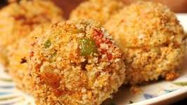 Crunchy crab balls
