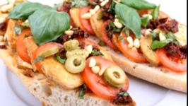 Vegan Italian Open Sandwich