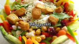 Healthy Garbanzo Beans and Ranch Salad