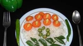 Tri Colour Coconut Rice in a Jiffy!