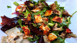 Grilled Halloumi and Herring Summer Salad