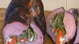 SmokingPit.com - Mushroom, Pepper and Provolone Cheese Stuffed Beef Tri Tip Roast with Tatonka Dust