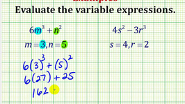 Examples Part 2:  Evaluating Variable Expressions