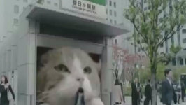 Awesome Gum Commercial Shows Giant Cat Carrying Man to Work