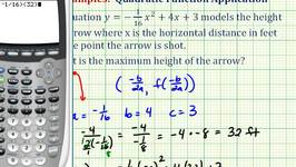Ex: Quadratic Function Application - Horizontal Distance and Vertical Height