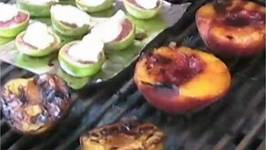 Grilled Fruits with Honey Balsamic Glaze