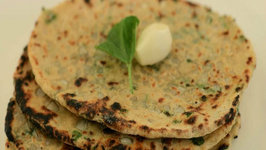 Soya Methi Garlic Naan (Diabetic and Low Calorie) by Tarla Dalal