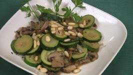 Zucchini and Mushrooms with Herbs