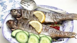 Grilled Trout with Cucumber
