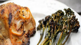 Split Chicken Breasts with Baby Broccoli  Paleo