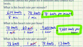 Ex:  Determine Heart Rate Using Different Units of Time (Unit Rates)