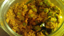 Green Peas Masala (Green Matar curry dry)
