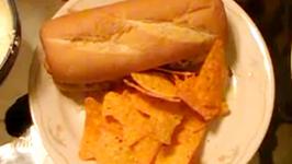 Super Bowl Fried Chicken Submarine Sandwich