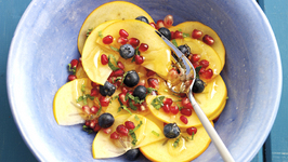 Persimon, Blueberry and Pomegranate Salad