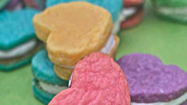 Cream Cheese Sugar Cookies- Heart Sandwich Cookies