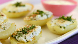 Stuffed Potatoes with Paneer by Tarla Dalal