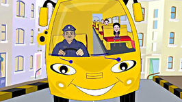 The Wheels on the Bus Go Round and Round - Animation English Nursery Rhyme for Children