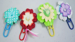 How to make paper flower bookmarks video by simplekidscrafts how to make paper flower bookmarks mightylinksfo