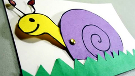 How To Make A Construction Paper Snail Card With Movable Head