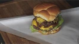 California Style Double Burger with Caramelized Onions