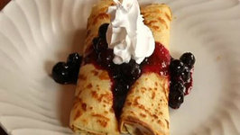 Crepes Stuffed with Blueberries and Mascarpone Cheese and Whole Wheat Crepes too!