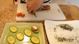 Smoked-Salmon Cream Cheese Sushi Rolls