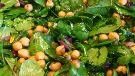 Seasoned Spinach and Arugula Salad