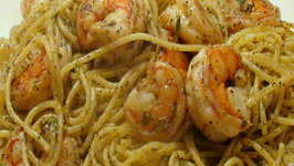 Christmas Eve Pasta: Lemon Pepper Shrimp Linguini (or Spaghetti)