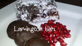 Dark Chocolate Lemington Cake