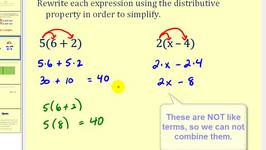 Introduction to the Distributive Property