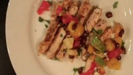 Delicious  Mango Salsa w Grilled Chicken
