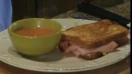 Ham and Cheese Sandwich with Tomato Soup