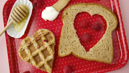 Weelicious's Waffle Heart Sandwiches